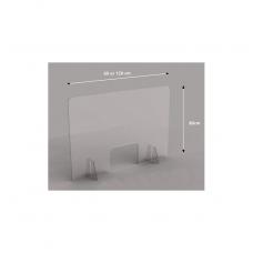 Sanitární stěna ochranný štít plexi přepážka na stůl 120 x 80 cm