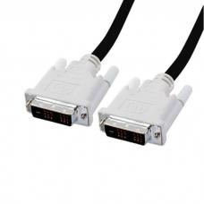 DVI-D kabel propojovací, 1,8 m, černý