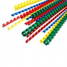 Červené plastové hřbety pro vazbu - 6 mm